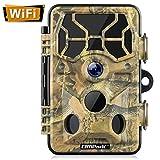 Campark WLAN Wildkamera 20MP 1296P, WiFi mit Bewegungsmelder Nachtsicht Wildlife Jagdkamera, Wildtierkamera mit Nachtsichtbewegung Wasserdicht IP66