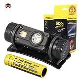 Nitecore HC65 Stirnlampe LED Wiederaufladbar 1000 Lumen CREE IPX8 Wasserdicht Kopflampe Stirnlampe Rotlicht [ Mit 3400mAh Akku ]