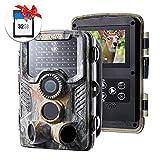 Crenova 20 MP Wildkamera mit 32 GB SD Card 47pcs 940 nm IR-LEDs 20m Nachtsicht und IP66 wasserdichter Jagdspielkamera
